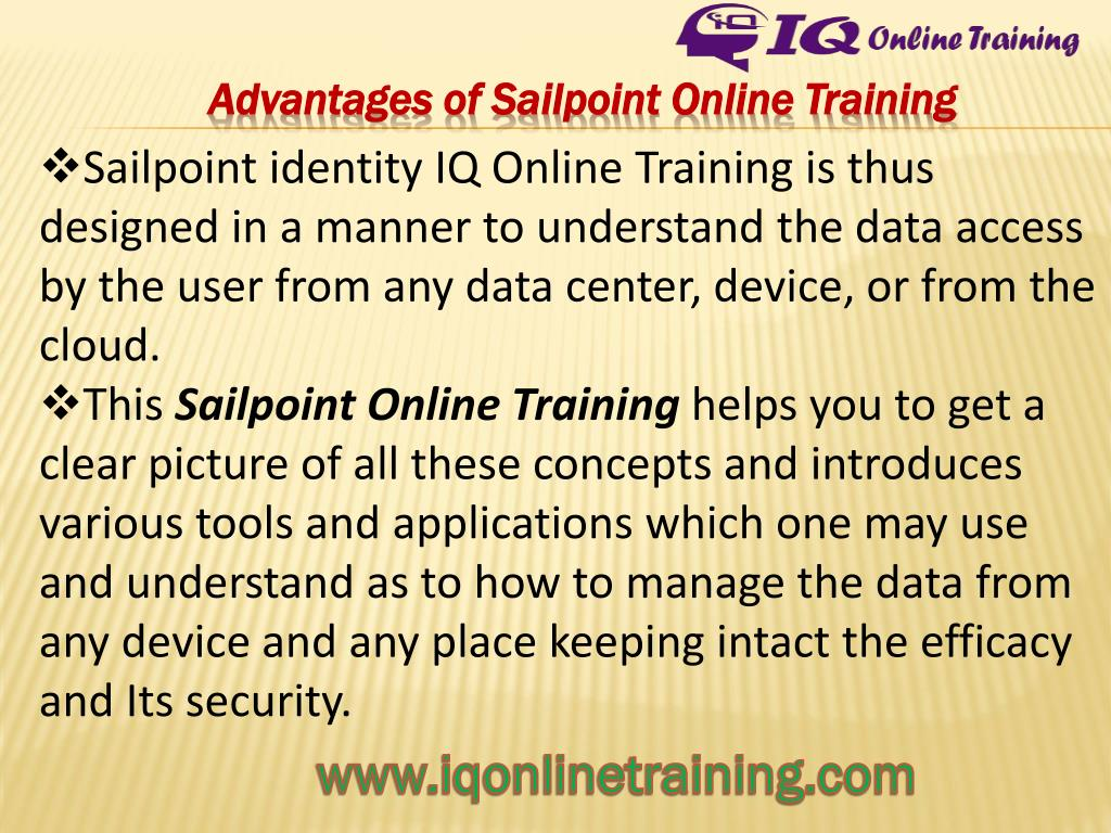 PPT - Get Trained in Sailpoint Online Training from