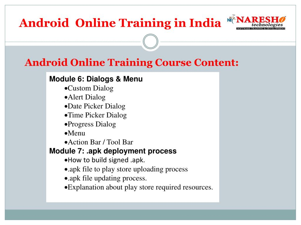 PPT - Online Android Training in india PowerPoint