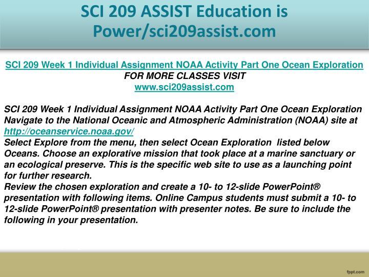 sci 209 week 1 noaa activity