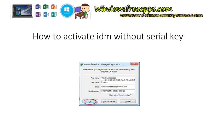 how to license idm registration free