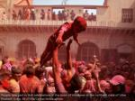 people participate in holi festivities