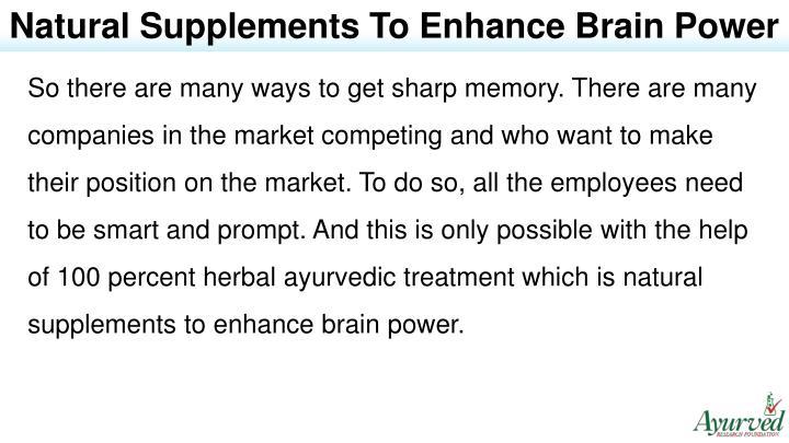 enhance brain power