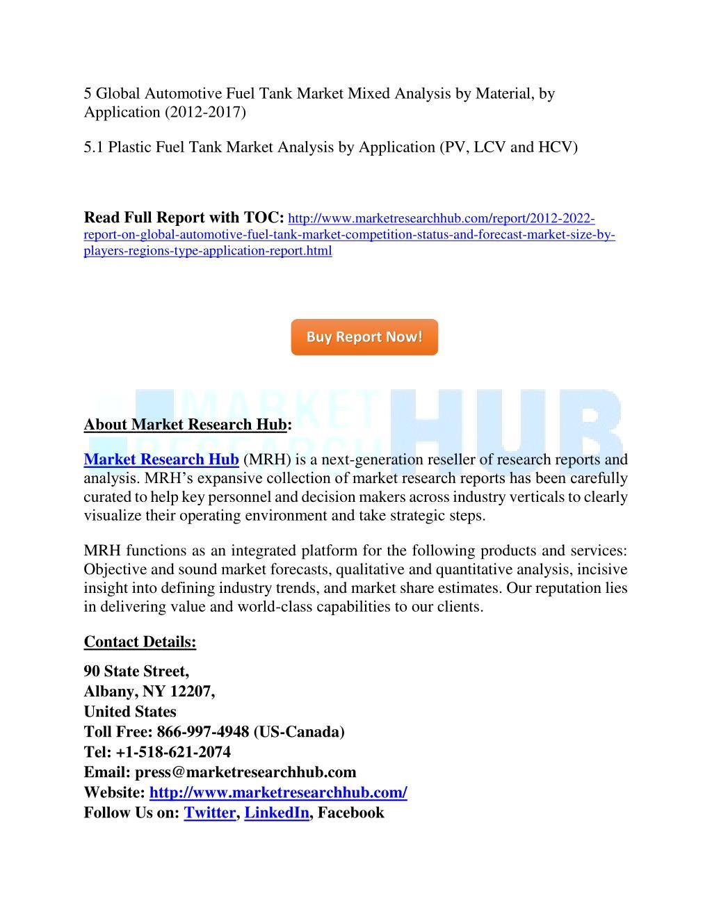 PPT - Global Automotive Fuel Tank Market Competition, Status