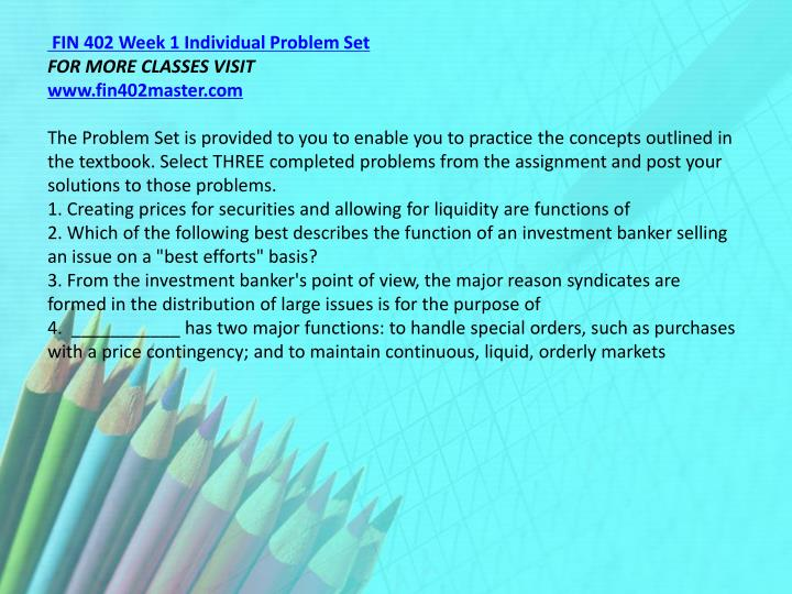 week 1 problem set