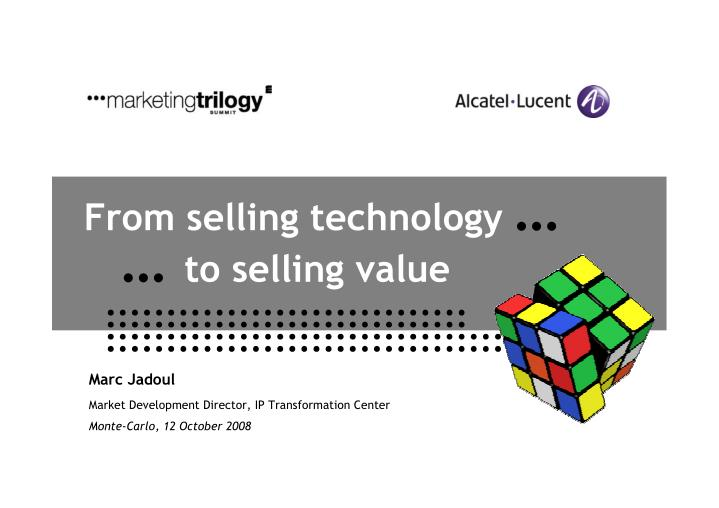 from selling technology to selling value n.