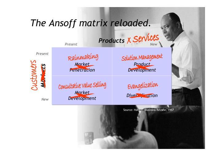 The Ansoff matrix reloaded.