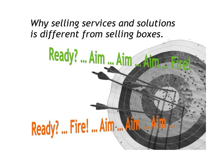 Why selling services and solutions