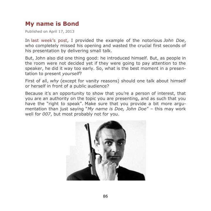 My name is Bond
