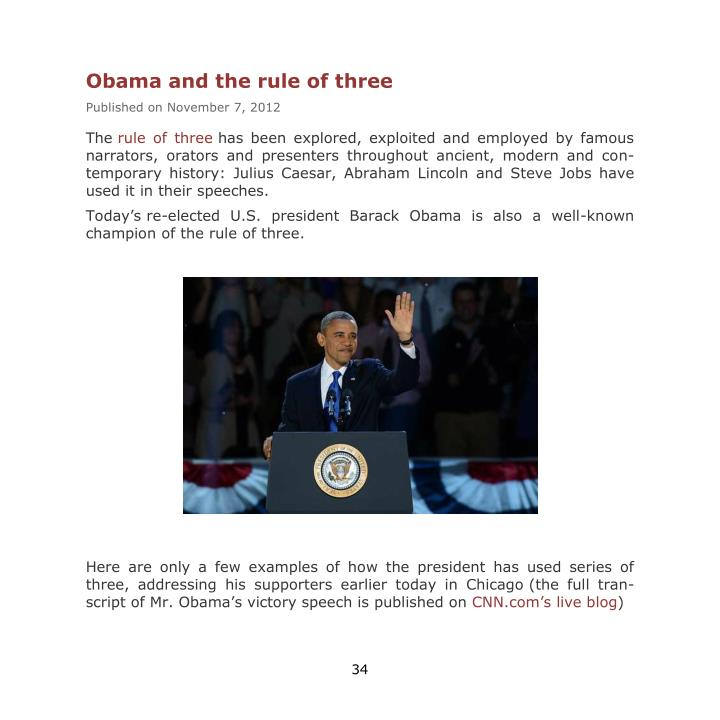 Obama and the rule of three