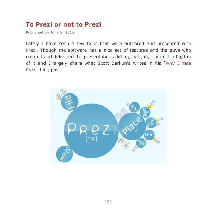 To Prezi or not to Prezi