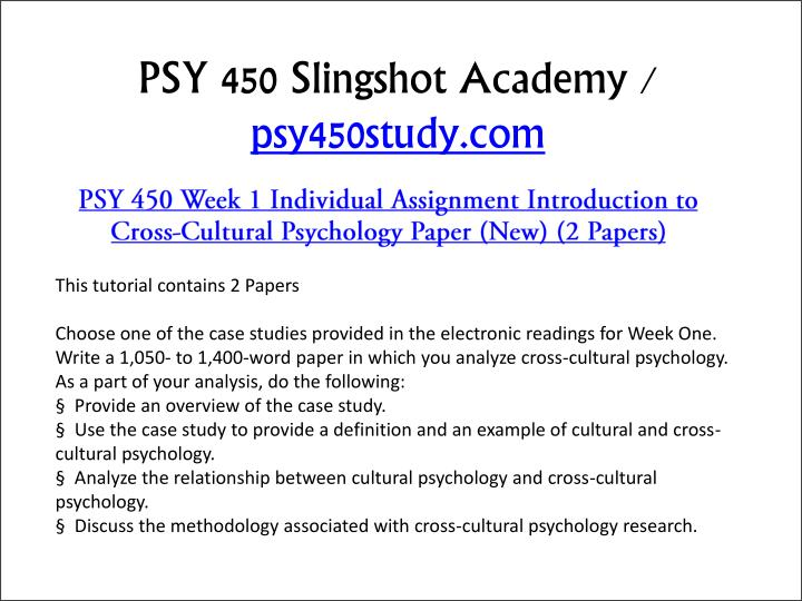 introduction to cross cultural psychology