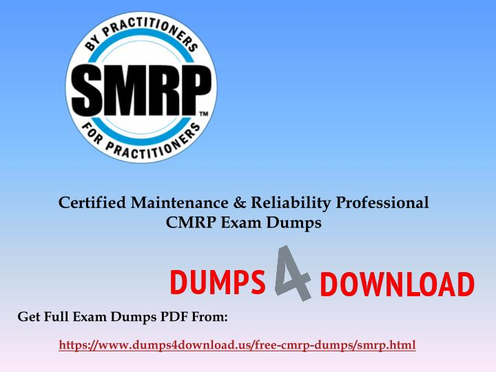 certified maintenance reliability professional n.