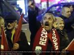 demonstrators dissent outside the turkish