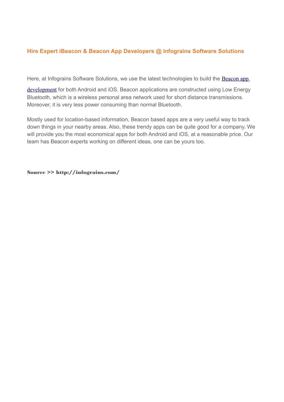 PPT - iBeacon & Beacon App Development Services By