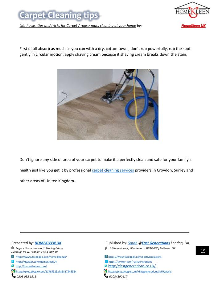 Ppt Carpet Cleaning Tips By Homekleen Uk Powerpoint