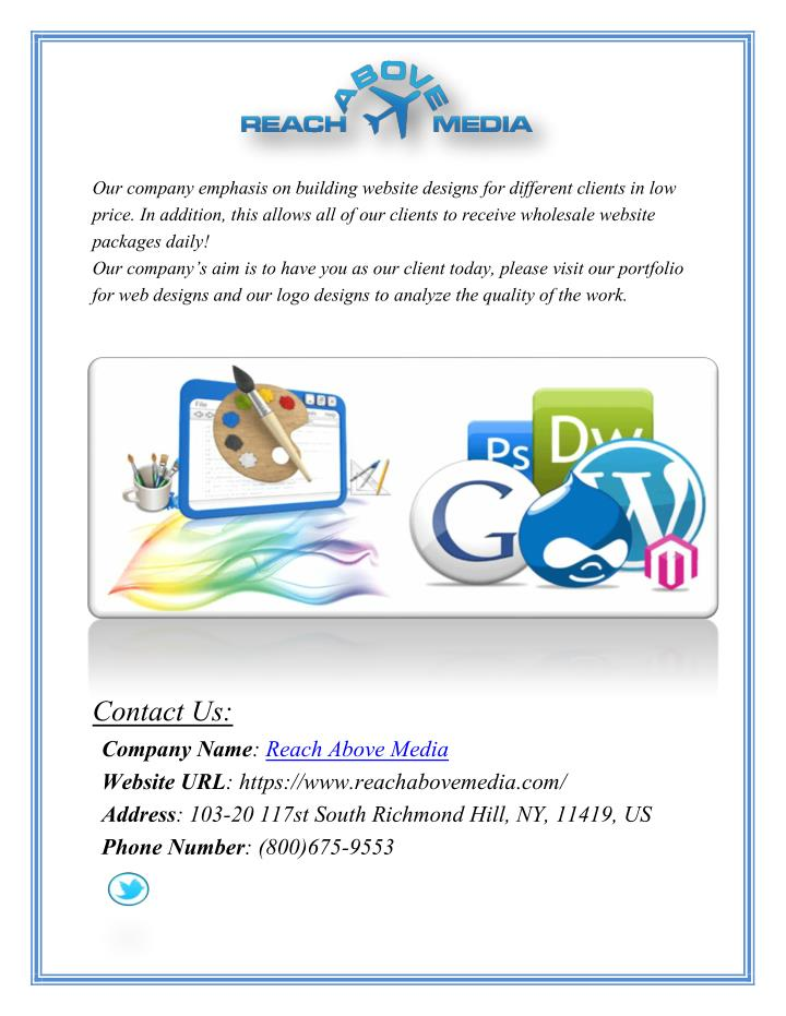 our company emphasis on building website designs n.