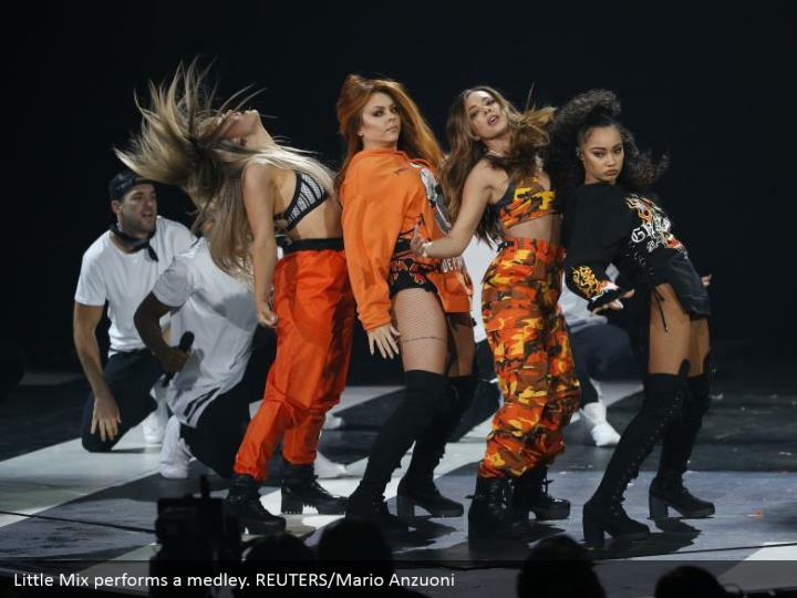 Little Mix plays out a variety. REUTERS/Mario Anzuoni
