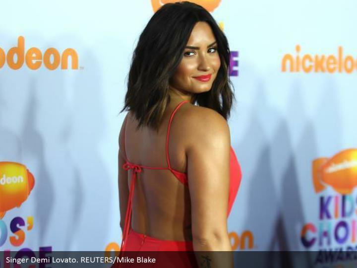 Singer Demi Lovato. REUTERS/Mike Blake
