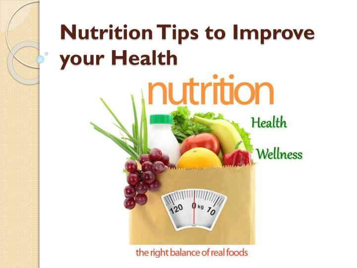 nutrition tips to improve your health n.