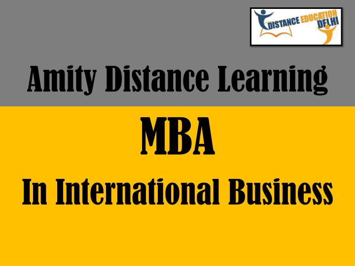 amity distance learning n.
