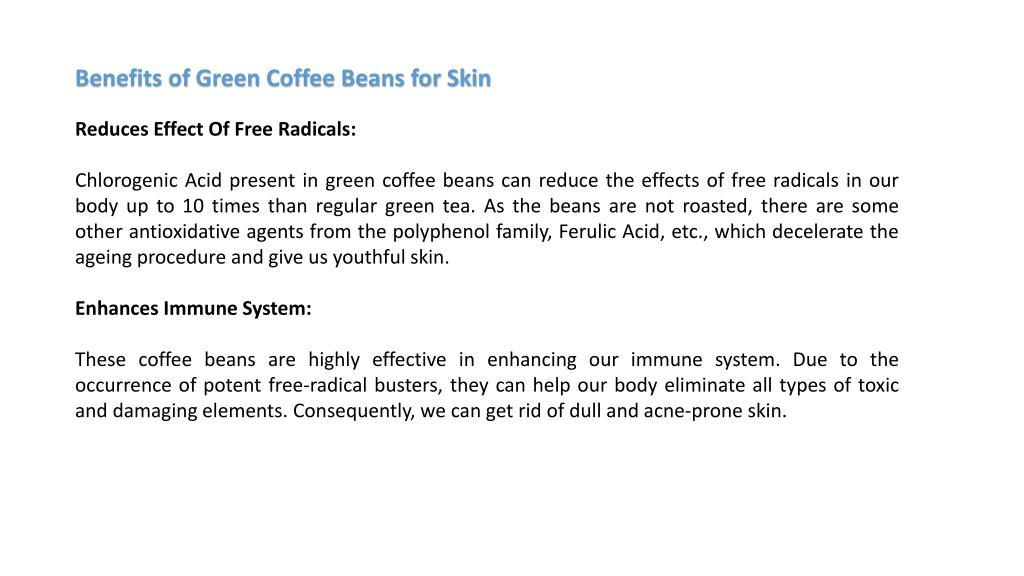 Ppt Why We Need Green Coffee Beans For Skin Hair And Health