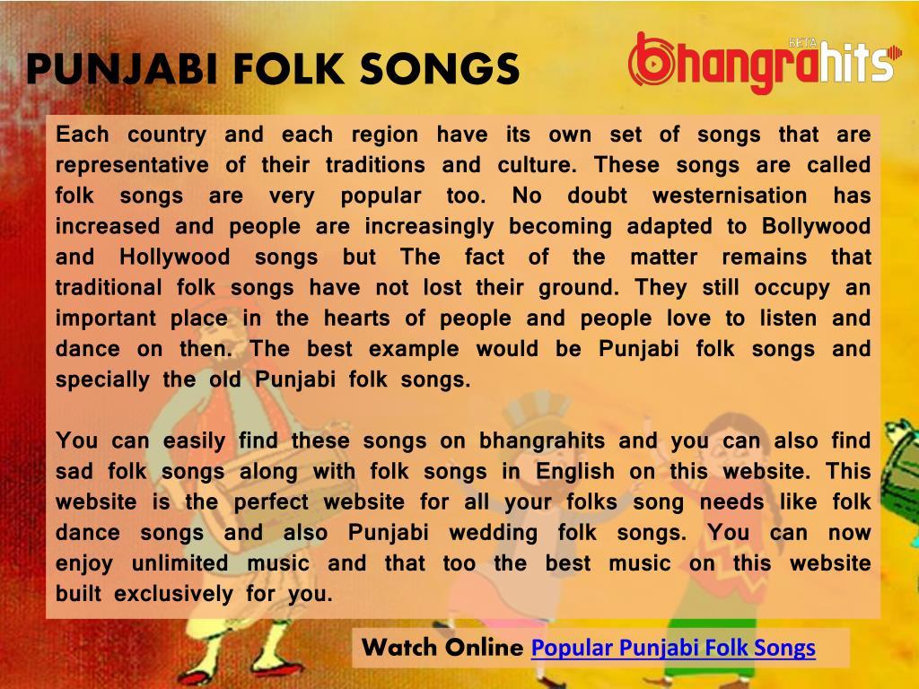 PPT - Hit Punjabi Folk Songs PowerPoint Presentation - ID:7531653