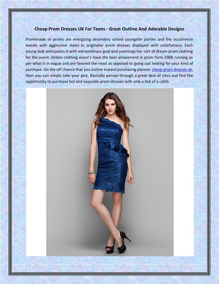 cheap prom dresses uk for teens great outline n.