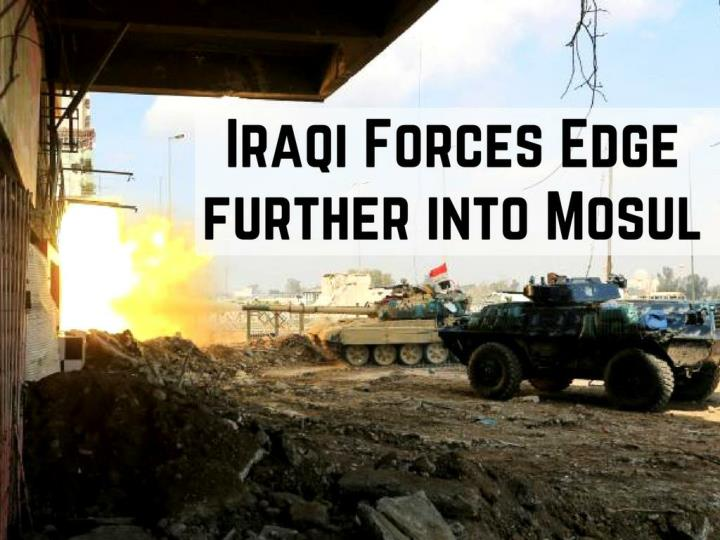 iraqi strengths edge promote into mosul n.