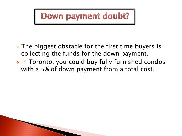 Down payment doubt?