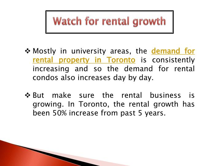 Watch for rental growth