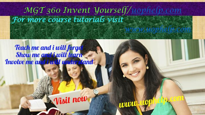 mgt 360 invent yourself uophelp com n.