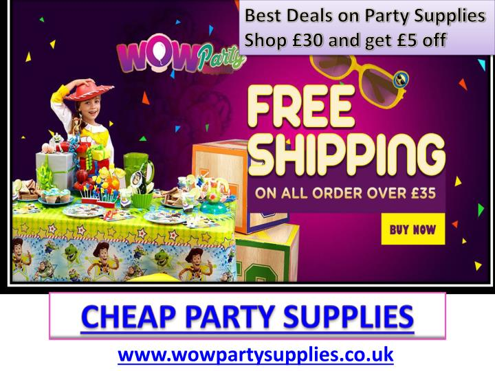 best deals on party supplies shop 30 and get 5 off n.
