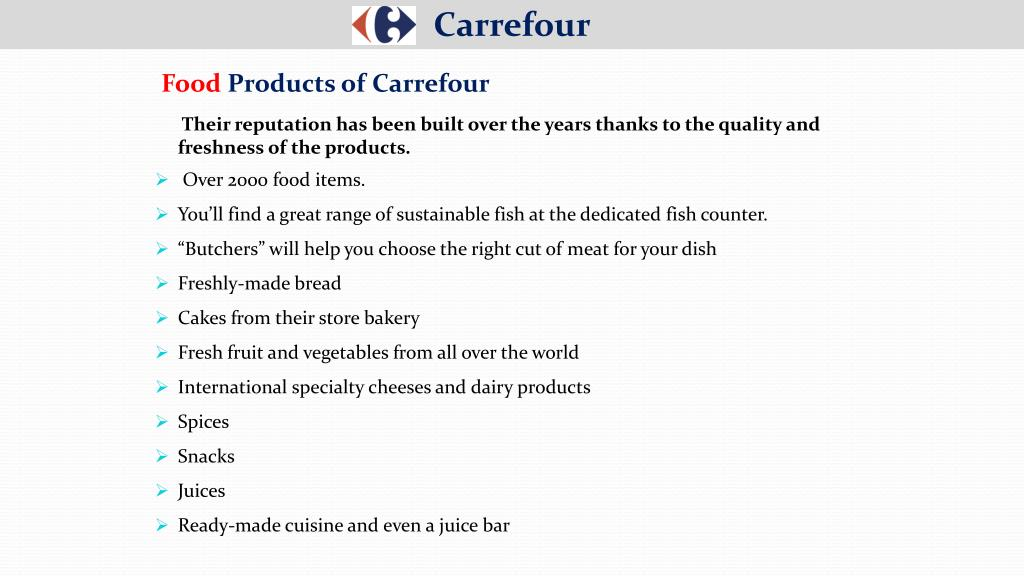 PPT - Carrefour PowerPoint Presentation - ID:7533265