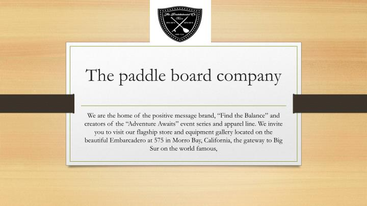 the paddle board company n.