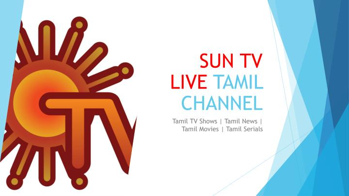 sun tv live tamil channel n.