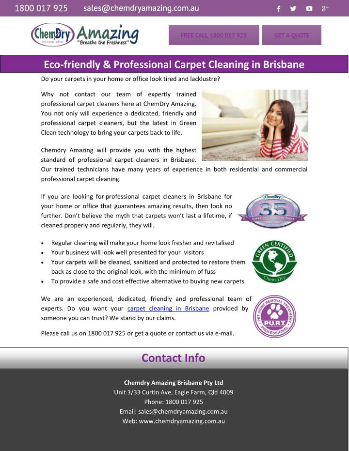 eco friendly professional carpet cleaning n.