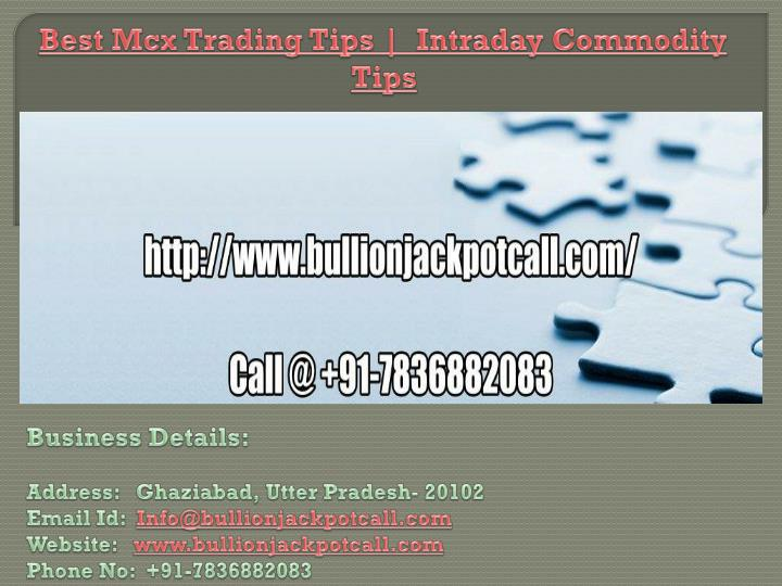best mcx trading tips intraday commodity tips n.