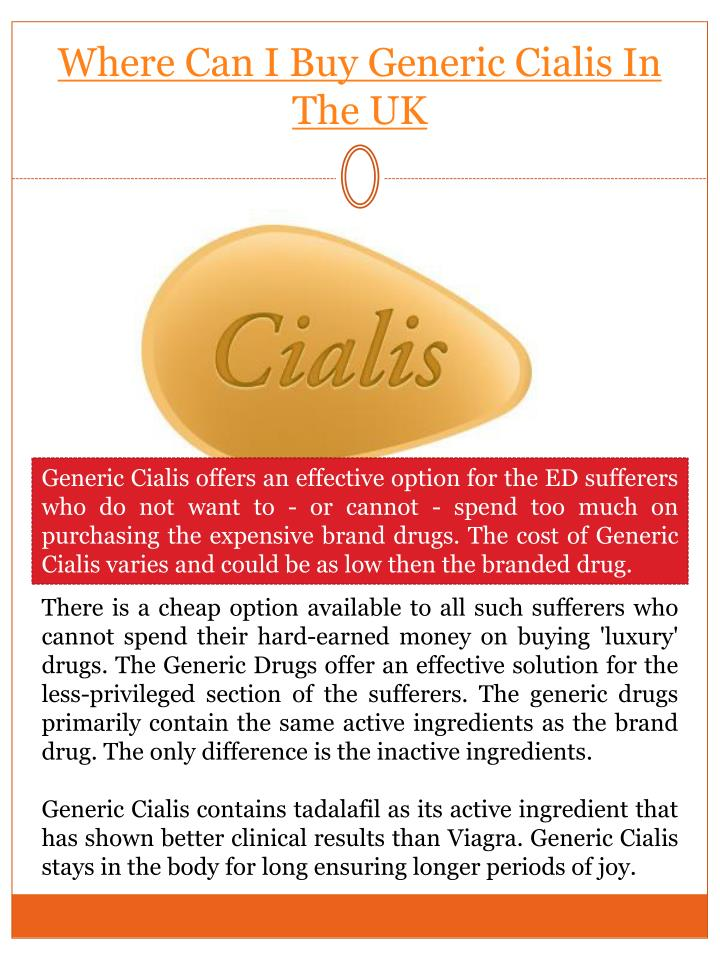 Where to buy generic cialis