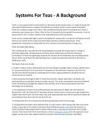 systems for teas a background