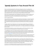 speedy systems in teas around the uk