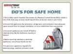 do s for safe home