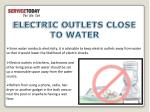 electric outlets close to water