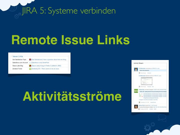JIRA 5: Systeme verbinden