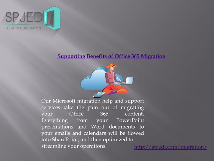 supporting benefits of office 365 migration n.
