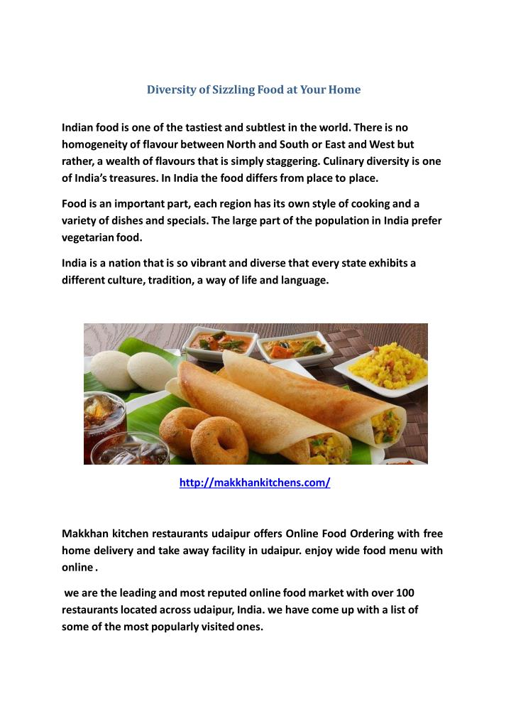 ppt diversity of sizzling food at your home powerpoint