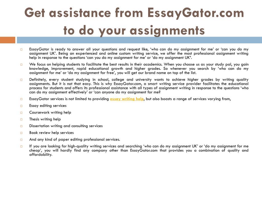 Do my assignment au