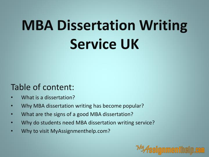 Dissertation in mba marketing