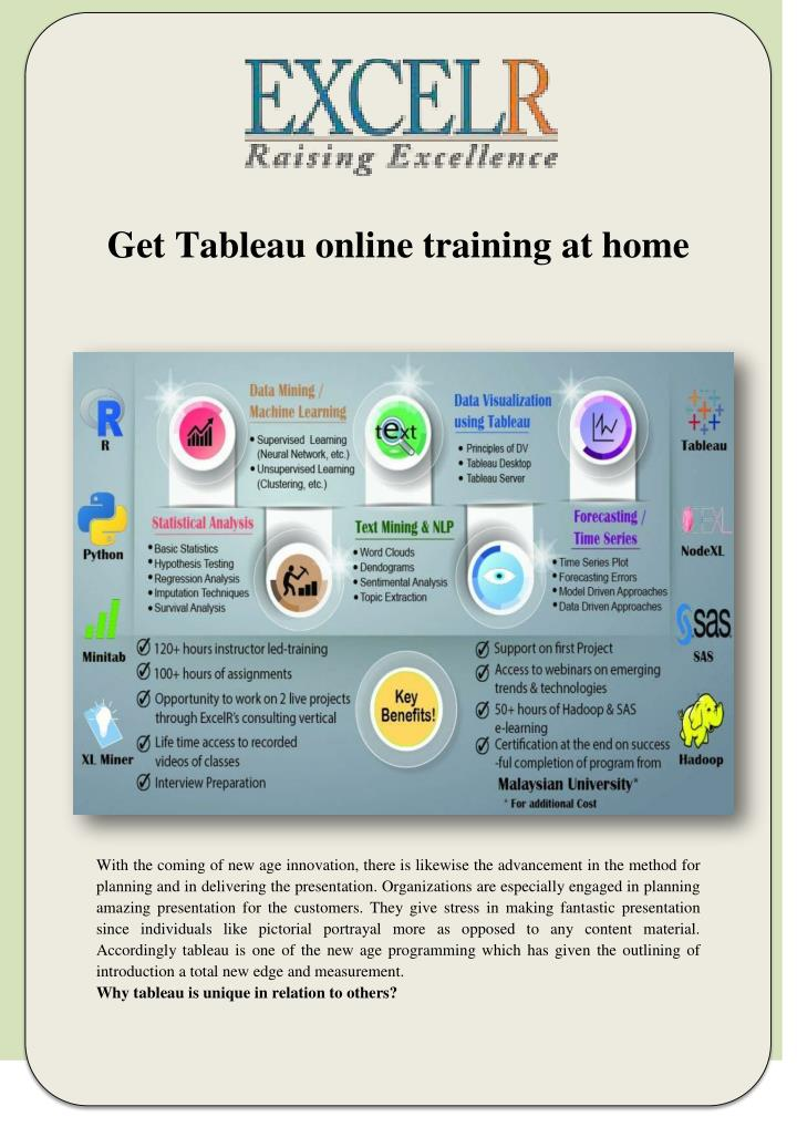 PPT - Get Tableau online training at home PowerPoint
