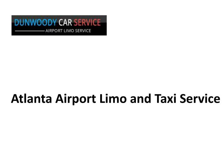atlanta airport limo and taxi service n.