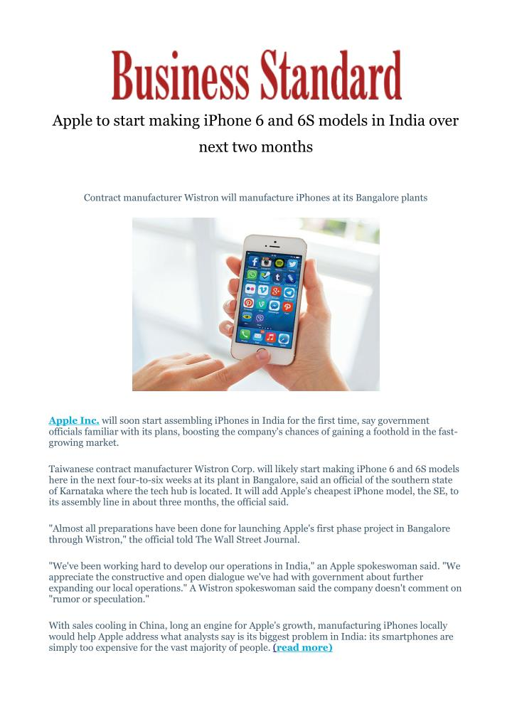 apple to start making iphone 6 and 6s models n.